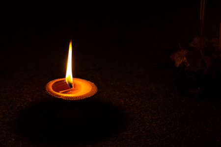 beeswax candle: Burning candles in thai style.