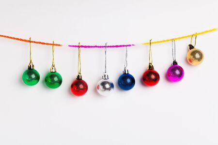 christmas bulbs: christmas ball on white background
