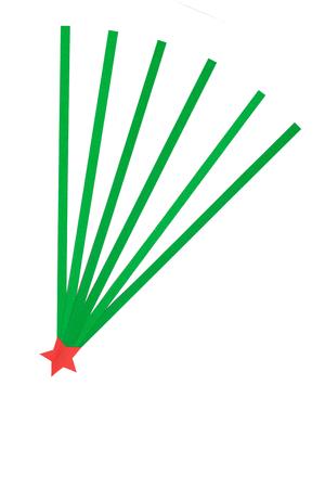 wisemen: Christmas Star paper on psper  background. Stock Photo