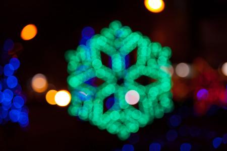 regularity: Blur of Christmas lights on background. Bokeh of christmas light.