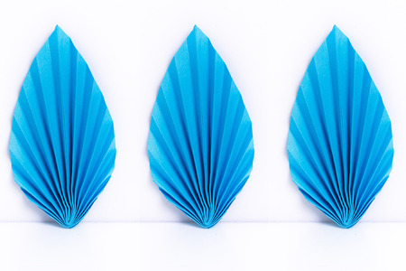 origami paper: Origami leaf paper on white background. Origami paper handmade.