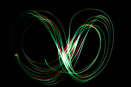 glitz: Light painting . Bokeh glitter round shapes . Abstract lights at motion exposure time
