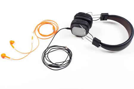 Retro cassette and headphones conceptual photo