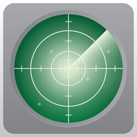Green radar vector illustrator.