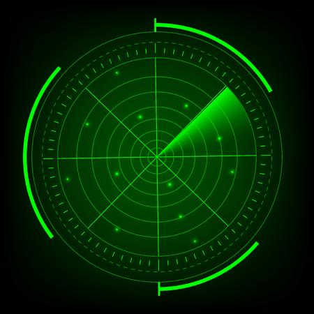 Radar vector illustrator.