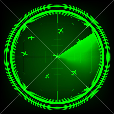 Airplane Radar vector illustrator.