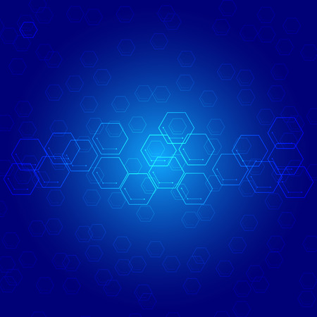 Abstract polygonal in drak blue background.