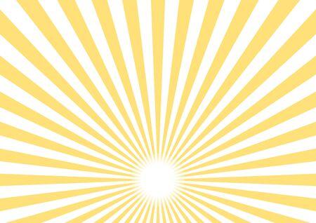 Illustratie van materiaal voor achtergrond van straling (geel) Vector Illustratie
