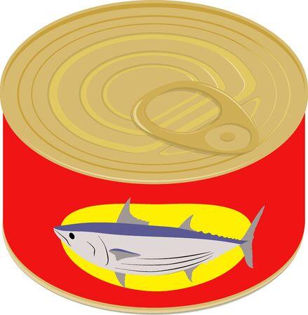 Vector illustration of tuna can  イラスト・ベクター素材
