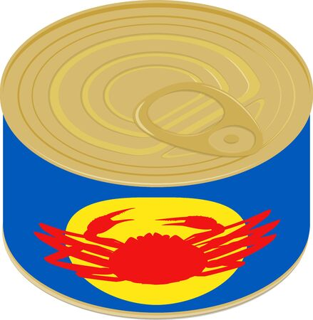 Vector illustration of crab can  イラスト・ベクター素材
