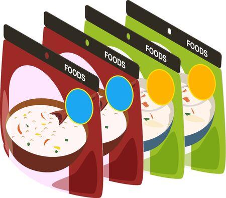 Vector illustration of retort foods 向量圖像