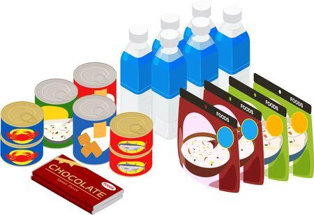 Vector illustration of preserved foods #02