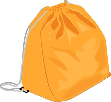 Vector illustration of disaster prevention bag