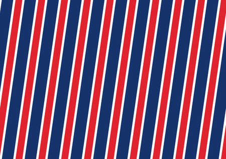 Abstract Seamless diagonal striped pattern with red and white and blue stripes. Vector illustration