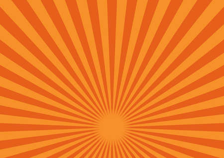 Illustration of material for background of radiation (Orange). The fulcrum is in the lower center Vector Illustration