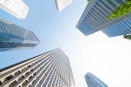 Shinjuku skyscrapers and sky