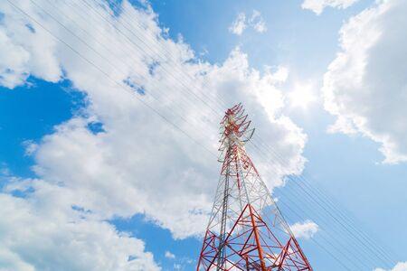 light transmission: High-voltage power line Tower