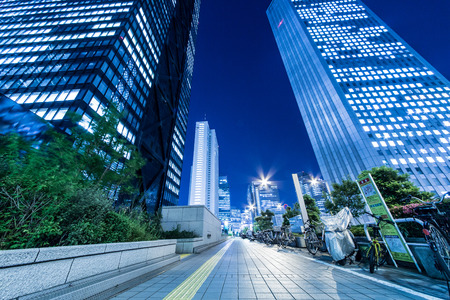 Night view of Shinjuku skyscrapers