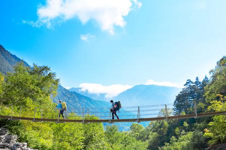 Recesses of a suspension bridge