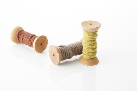 Bobbin of colorful yarn Imagens