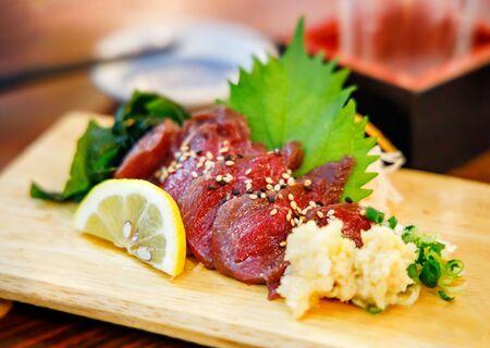 Fresh horse sashimi Фото со стока