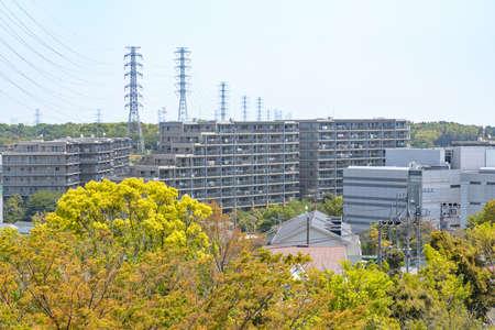 A residential area in the suburbs of Yokohama