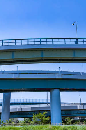 Blue sky and highway viaduct