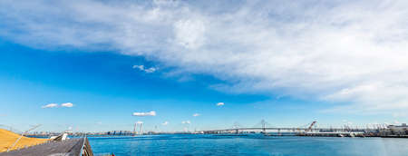 Blue sky and Yokohama sea