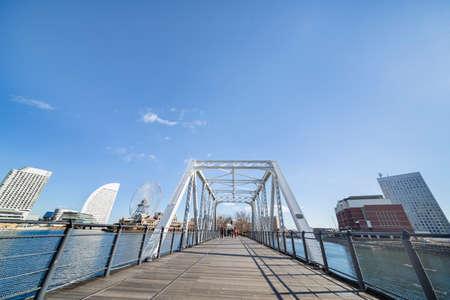 Blue sky and Yokohama buildings
