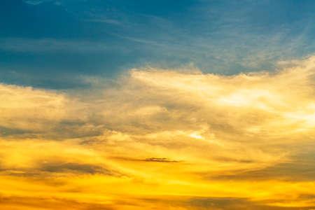 Sunset sky background.