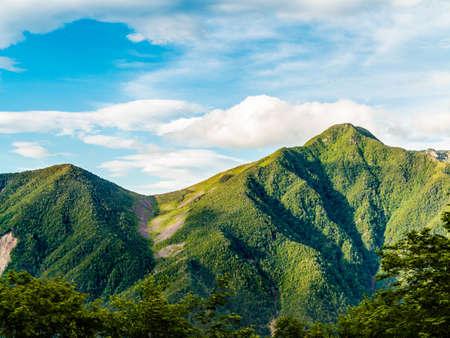 Fresh green mountains 写真素材