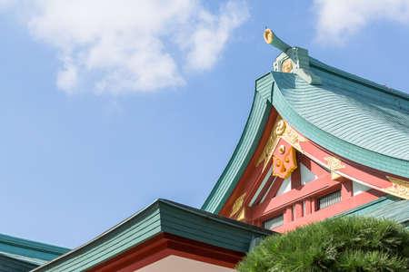 Shrine and blue sky