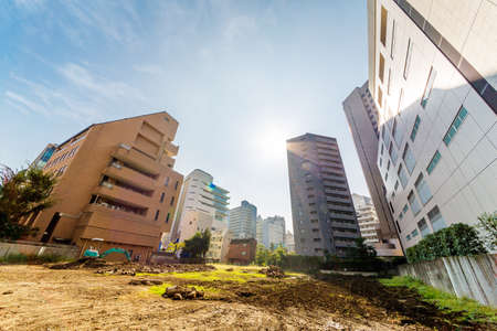 Vacant lots and buildings 스톡 콘텐츠