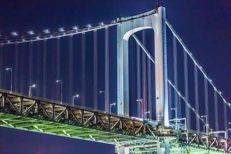 Rainbow Bridge at night