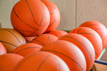 Basketball stored in a warehouse