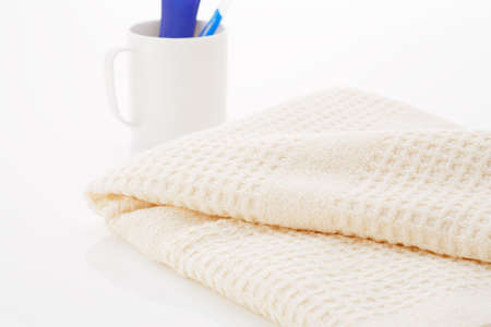Clean towels and toiletries