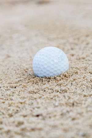 Golf ball in bunker
