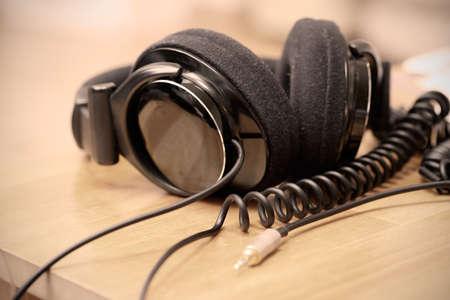Headphones on the desk
