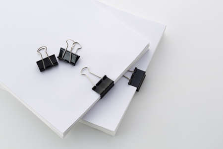 Thick material fastened with clips