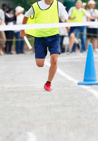 The boy who runs at the athletic meet