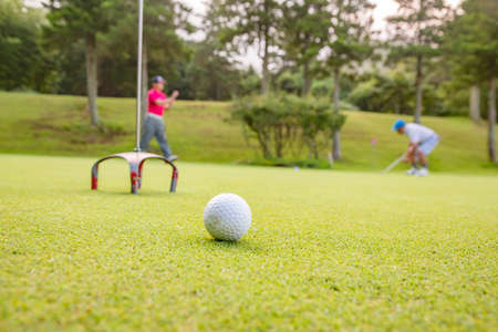 a man who practices golf Stok Fotoğraf