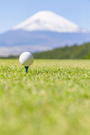Golf Balls and Mt. Fuji