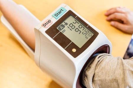 Blood pressure measurement for health care Stok Fotoğraf