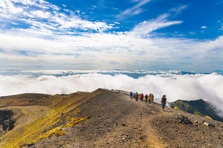 Mountain trail above the clouds