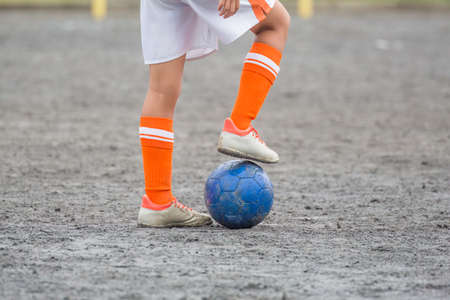 a child who plays soccer