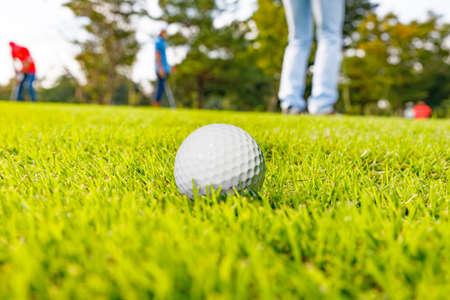Fresh Green Golf Course Stockfoto