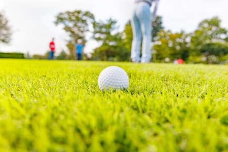 Fresh Green Golf Course Фото со стока