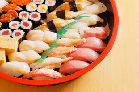 Assorted sushi that looks fresh and delicious 写真素材