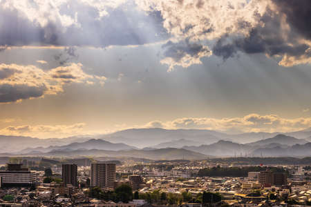 Scenery of local cities at sunset (Utsunomiya City, Tochigi Prefecture)