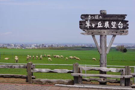 observation: Sapporo Hitsujigaoka Observation Hill Stock Photo